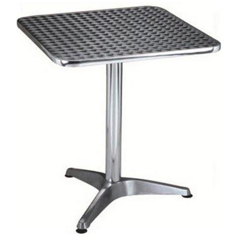 Tavolo In Alluminio Per Esterno.Milanihome Tavolo Quadrato Fisso A Colonna In Acciaio E