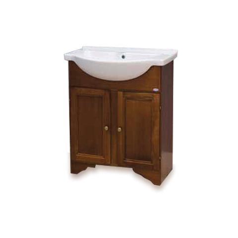 HOMEGARDEN - Mobile da bagno classico in legno con lavabo arte povera