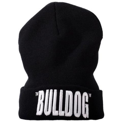 The Bulldog Amsterdam - Cappello Lana Taglia Unica Con Scritta Nero Hat  Berretto Bulcap009 - ePRICE f3afbd51595d