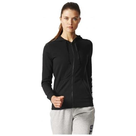 adidas Essential Linear Fullzip Hoodie Felpa Con Cappuccio Donna Taglia L