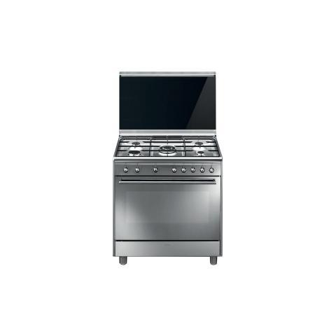 SMEG - Cucina Elettrica SX91M9 5 Fuochi a Gas Forno Elettrico Classe ...