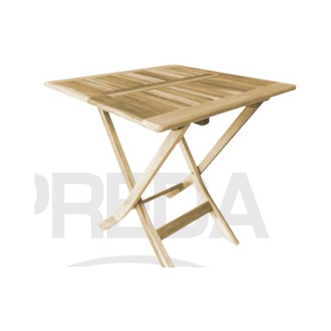 Preda - Tavolo quadrato in legno Teak - 70 cm - ePRICE