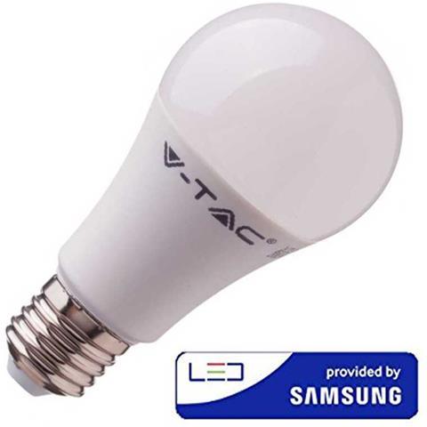 Lampadine Led E27 Luce Fredda.V Tac Lampadine Led E27 A58 9w Smd Samsung Bulbo Luce Fredda 6400k V Tac Vt 210 230