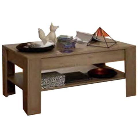 ARGONAUTA Tavolino Da Salotto Con Ripiano Colore Rovere Classico 110x40xh.  65 Cm