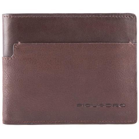 PIQUADRO Portafoglio Uomo Con Portamonete, Porta Carte Wostok - Pu4188w95r  - Testa Di Moro