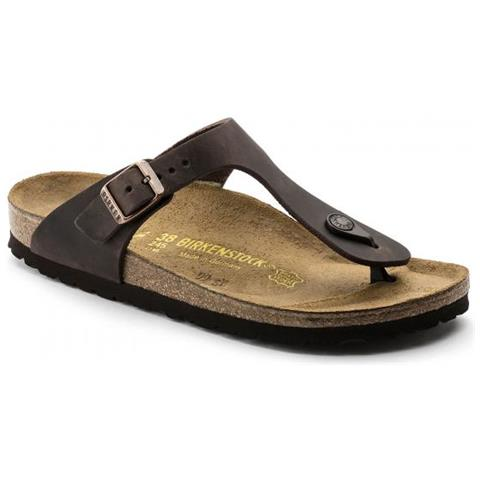 separation shoes 57d23 6adc8 Birkenstock Gizeh Leather Habana Sandalo - Calzata Normale Eur 40