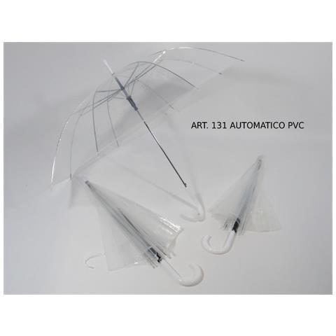 cfe91be7238a Vendilosubito - Ombrello Donna Sposa Trasparente Automatico Con Rifiniture  E Manico Bianco - ePRICE