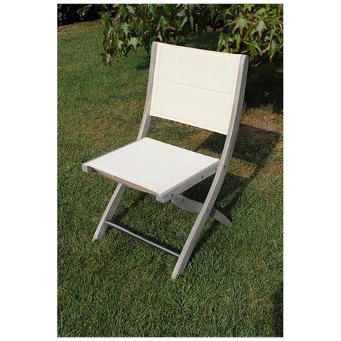 Sedie In Legno Per Alberghi.Milanihome Sedia In Legno Di Acacia Grigia Per Esterno Giardino