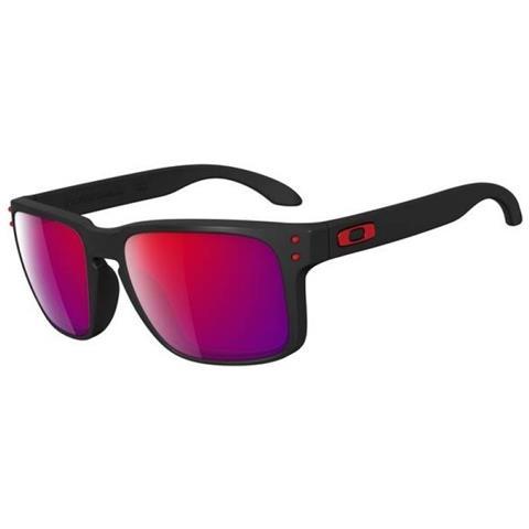 nuovo concetto a3249 ee698 OAKLEY Occhiali Da Sole Uomo Holbrook Blk - Taglia: Unica - Colore: Nero  Rosso