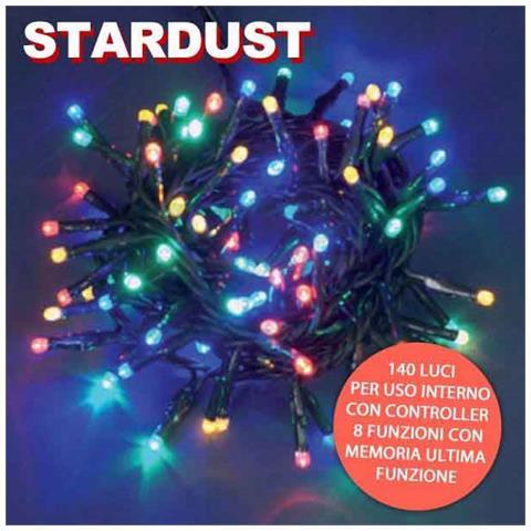 Immagini Luci Natalizie.Bakaji Catena Luci Natalizie 140 Lucciole Multicolor Con Controller 8 Funzioni Stardust Eprice