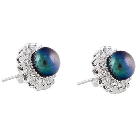58478cdb81ad0d Blue Pearls - Sole Orecchini Di Perle E Le Pietre Della Cz E Argento 925 -  Bps 1044 O Noir - ePRICE