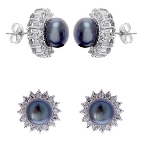 b658021f6824a7 |Descrizione|Scheda tecnica|Consegna e Pagamento. Blue Pearls Sole Orecchini  Di Perle E Le Pietre Della Cz E Argento 925 - Bps