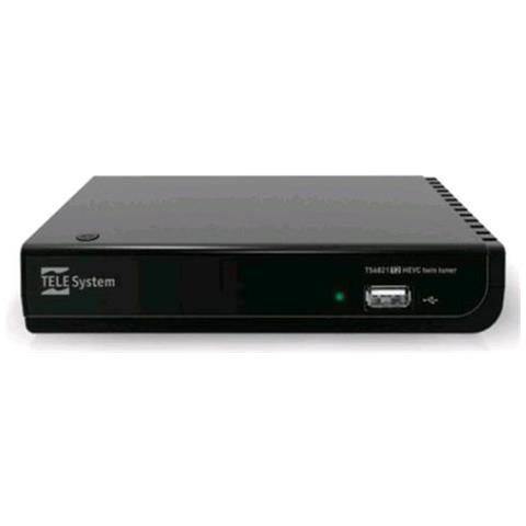 Decoder Digitale Terrestre TS6821 Doppio Tuner DVB-T2 Full HD HDMI / USB Ethernet (RJ-45)