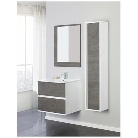Feridras - Composizione Mobile Bagno 60 Cm Fabula Cemento / bianco ...