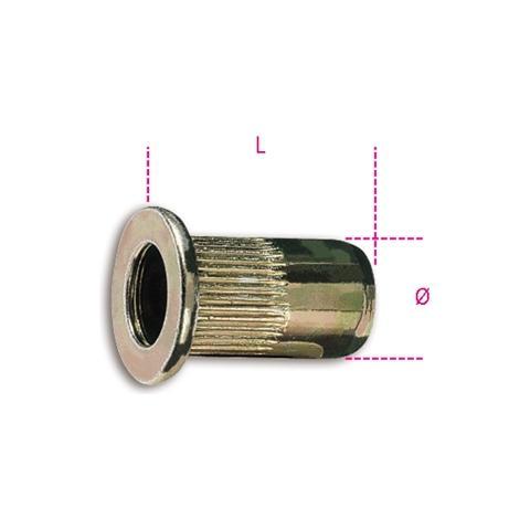 75Pz Rivetti Rame Maurer in Blister 3,8x7 mm Cf