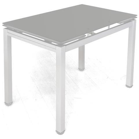 Tavolo Cristallo Allungabile Usato.Cribel Tavolo Allungabile Bianco Piano In Vetro Queen Eprice