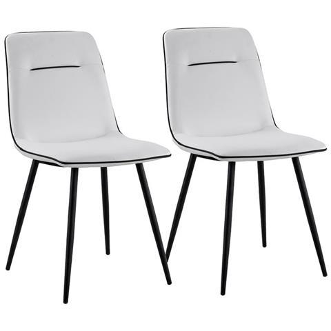 B.H.D - Valerie - Set di 2 sedie moderne - Stile Pelle - Colore ...
