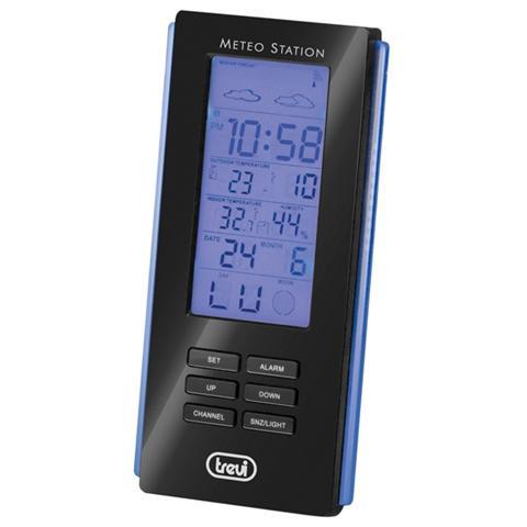 Nero Umidit/à Previsioni Meteo Fase Lunare Calendario Sveglia Trevi ME 3106 Stazione Meteo Temperatura Interna