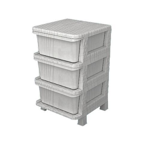 HOMEGARDEN - Cassettiera modulare da cucina con 3 cassetti in resina ...