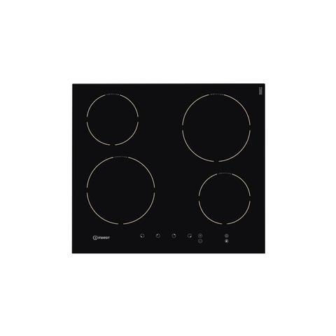 INDESIT Piano Cottura VIA640C a Induzione 4 Zone Cottura da 60 cm Colore  Nero
