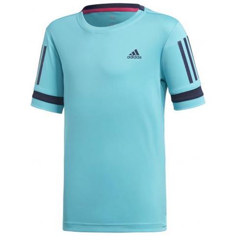 07d6c7ee25247b adidas - Boys Club 3 Stripes Tee T-shirt Da Tennis Per Bambino Cm 128 -  ePRICE