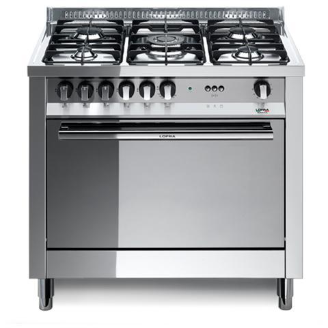LOFRA   Cucina A Gas MG96GV / C 5 Fuochi Forno A Gas Dimensioni 90 X 60 Cm  Colore Acciaio Inox Lucido   EPRICE