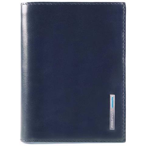 89f4ca708f PIQUADRO - Portafoglio Uomo Con Scomparto Per Banconote, Portadocumenti E  Porta Carte Di Credito Blue Square - Pu4520b2r