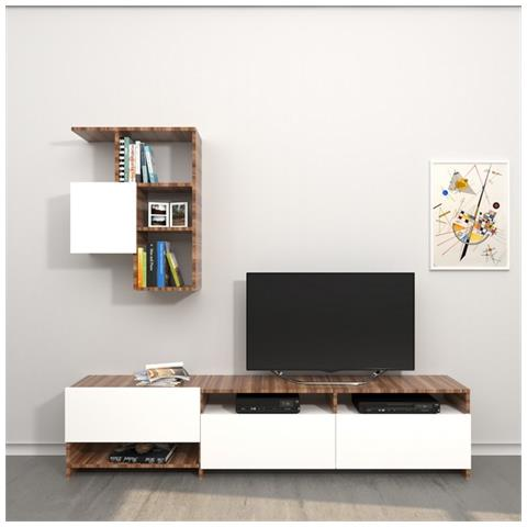 Homemania - Mobile Porta Tv Cd Legno Supporto Ripiani Mensole Draco ...
