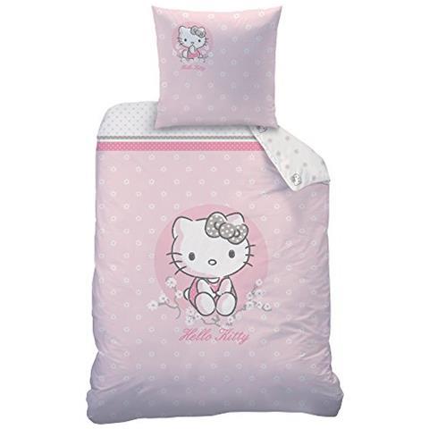 Cti Hello Kitty 045244 Cerisier Set Di Biancheria Da Letto Cotone Rosa 135 X 200 Cm Eprice