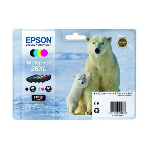 Epson Epson Multipack 26XL (4 colori XL : NCMG)