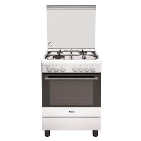 HOTPOINT - Cucina Elettrica H6TMH2AF (W) IT4 Fuochi a Gas Forno ...