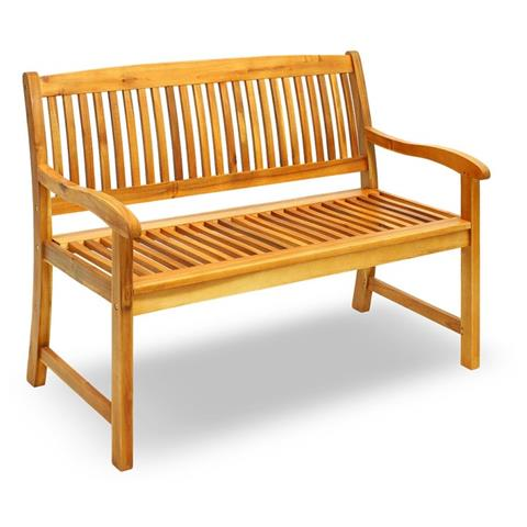 Q-bo - Panchina per esterni in legno di acacia due posti - ePRICE