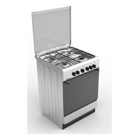 BOMPANI - Cucina Elettrica BI643KA / N 4 Fuochi a Gas Forno ...