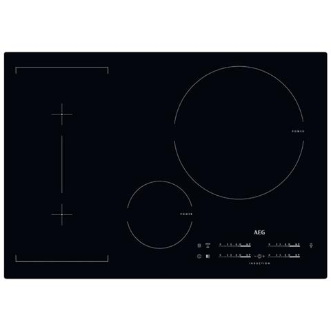 aeg - piano cottura ad induzione hkl85416ib 4 zone cottura da 77 cm