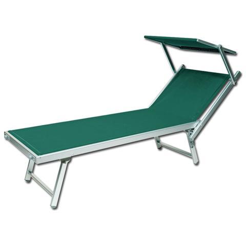Lettino Sdraio In Alluminio.Homegarden Lettino Da Spiaggia Regolabile Sdraio Prendisole In