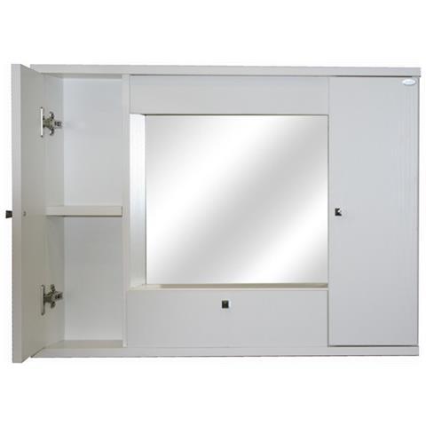 Specchio Bagno Con Ante.Argonauta Mobile Specchiera Bagno Bianco Frassinato 2 Ante C