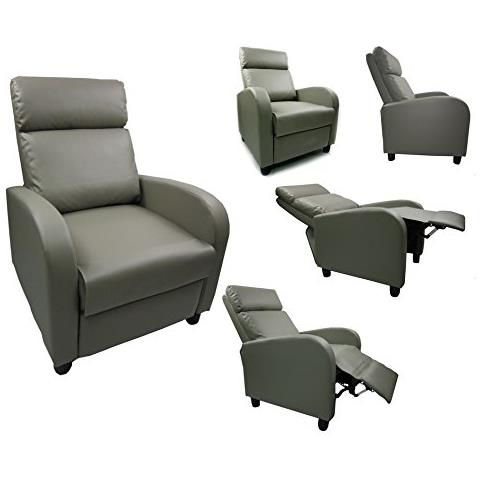 Piushopping - Poltrona Relax Reclinabile In Ecopelle Recliner Con ...