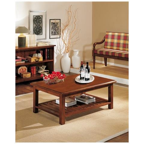 Tavolino Per Salotto Legno.Estea Mobili Tavolino Salotto Rettangolare Legno Massello