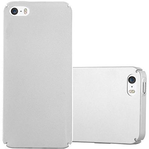 Cadorabo Custodia Per Apple Iphone 5 / Iphone 5s / Iphone Se In Argento Metallo - Rigida Cover Protettiva Sottile Con Bordo Protezione - Back Hard ...