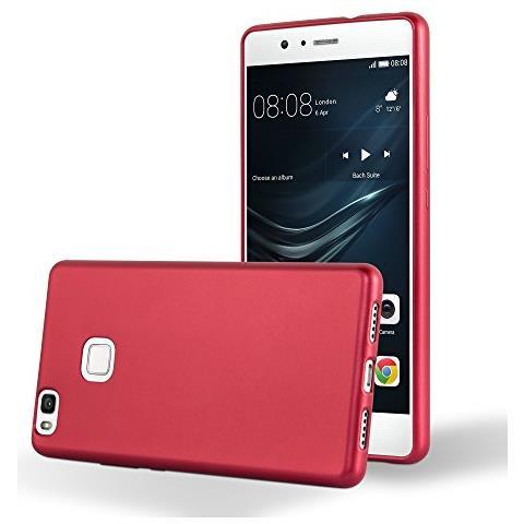 Cadorabo Custodia Per Huawei P9 Lite In Rosso Metallico - Morbida Cover Protettiva Sottile Di Silicone Tpu Con Bordo Protezione - Ultra Slim Case ...