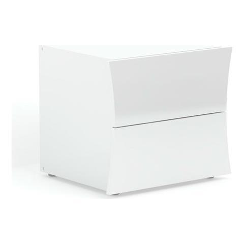 Comodino Laccato Lucido.Web Convenienza Robin Comodino 2 Cassetti Bianco Laccato Lucido