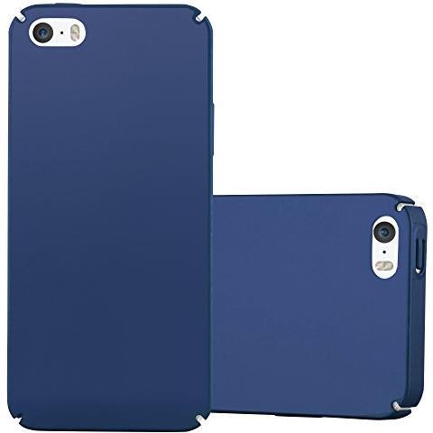 Cadorabo Custodia Per Apple Iphone 5 / Iphone 5s / Iphone Se In Azzurro Metallo - Rigida Cover Protettiva Sottile Con Bordo Protezione - Back Hard ...