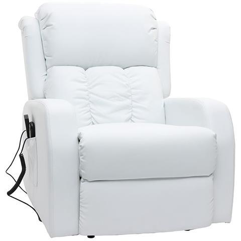 Poltrone Relax Massaggio Prezzi.Miliboo Poltrona Relax Elettrica Massaggiante Bianca Galler Eprice