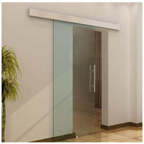HOMCOM - Porta scorrevole in vetro 2050x900x8 mm porta camera porta ...
