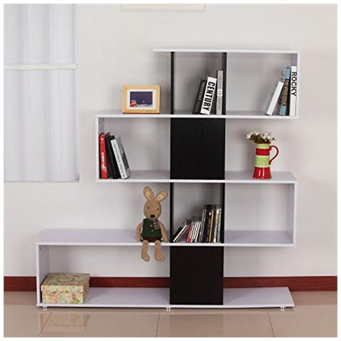 HOMCOM - Libreria di design in legno 145x30x145cm Mobili ufficio ...