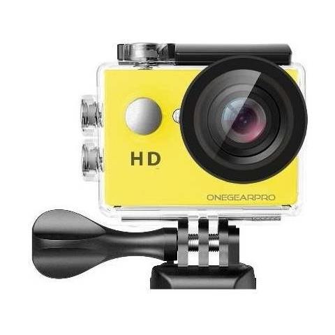 Action Cam SportCam Fun 720 HD 5 Mpx Impermeabile Colore Nero / Giallo