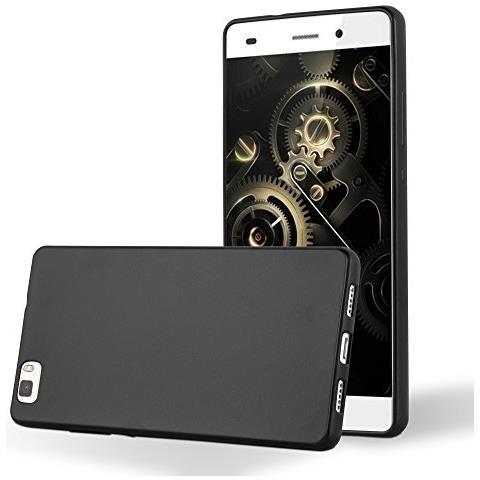 Cadorabo Custodia Per Huawei P8 Lite 2015 In Nero Metallico - Morbida Cover Protettiva Sottile Di Silicone Tpu Con Bordo Protezione - Ultra Slim Case ...