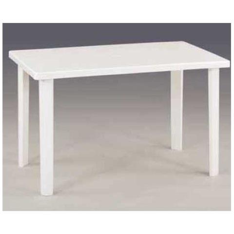 Tavolo Resina Bianco.Ac Tavolo Resina Art 54 Cm 120x70 Bianco
