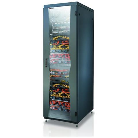 I-CASE FP-4218BKXG - Armadio NetRack 19'' 800x1000 42 Unit? Nero Porta Grigliata da Assemblare