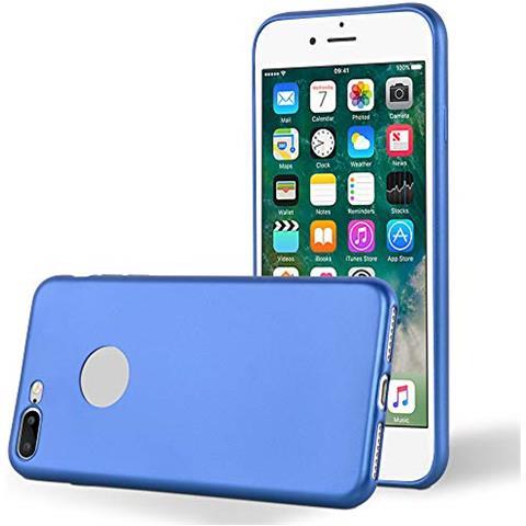 Cadorabo Custodia Per Apple Iphone 8 Plus / 7 Plus / 7s Plus In Azzurro Metallico - Morbida Cover Protettiva Sottile Di Silicone Tpu Con Bordo ...